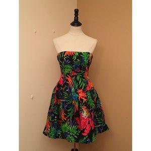 A.J. Bari Colorful Sleeveless Mini Dress